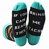This is My Christmas Movie Funny Novelty Socks If You Can Read This Beer Wine Coffee Taco Gift Christmas Socks (One Size, F-tacos)