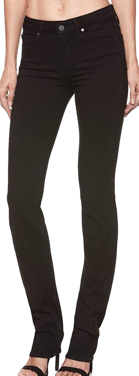Paige Women's Jean Hoxton Straight HIGH Rise Jeans Black Shadow1851521 2139