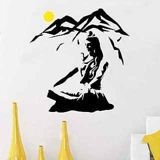 pegatina de pared 3d etiqueta de la pared Lord Shiva With A Yellow Moon For Yoga Living Room Home Art Decor Murals Sticker for yoga studio