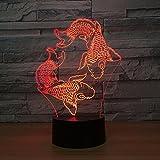 Schwimmen Fisch Lava Lampe kreative Farbwechsel Nachtlicht Stimmung Hochzeitsdekoration Geschenk Schlafzimmer Tischlampe Tropfboot