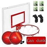 Mini-Basketball-Brett, Wand- Portable Kinder Indoor und Outdoor-Sportarten Spielzeug mit Tennis und...