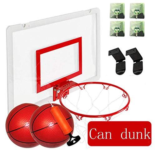 Mini-Basketball-Brett, Wand- Portable Kinder Indoor und Outdoor-Sportarten Spielzeug mit Tennis und Luftpumpe, frei von Löchern, mit separatem Rahmen, Schwarz MEI (Color : Red)