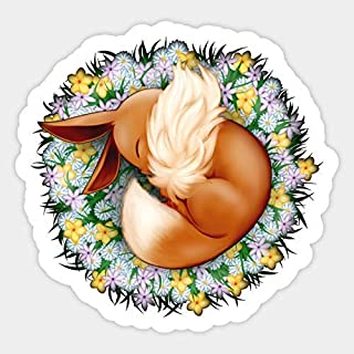 Cute Baby Sleeping Eevee Vinyl Sticker