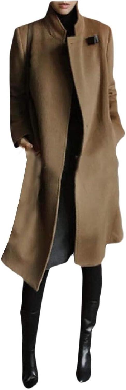 Tryist Women Premium OpenFront Wool Blend Cashmere Classic Pea Coat
