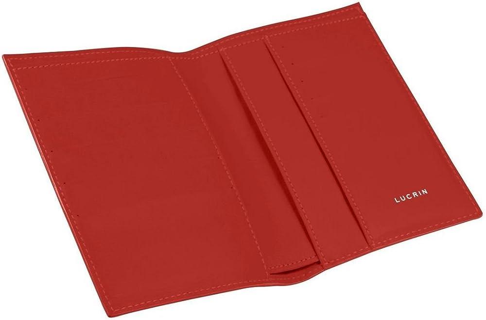 Lucrin, portafoglio, porta carte di credito, in pelle liscia, ROSSO PM1126_VCLS_