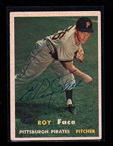 1957 Topps #166 Elroy Face Authentic On Card Autograph Signature Ax5580 - Baseball Slabbed Autographed Cards