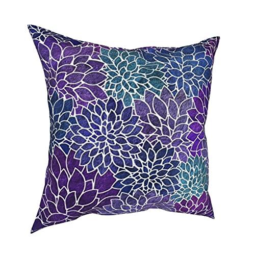 Fundas de almohada decorativas, fundas de almohada cuadradas abstractas florales, fundas de cojín para habitación, sofá, silla, coche, 50,8 x 50,8 cm