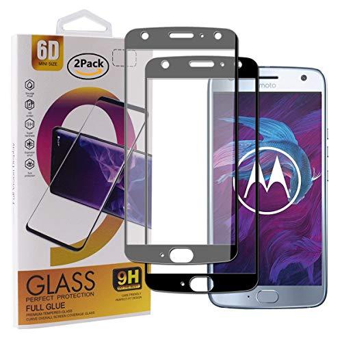 Guran [2 Pezzi Pellicola Vetro Temperato per Motorola Moto X4 Smartphone Copertura Completa 9H Durezza Anti-Impronte HD Pellicola Protettiva - Nero