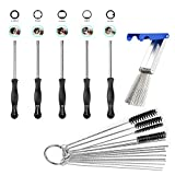 oxoxo carbure Tor Adjustment Tool Kit Carb Adjusting Screw Driver 4Inch Nylon Tube Brush Cleaning Set With Jet Cleaner Cleaning Tool for carbure Tor