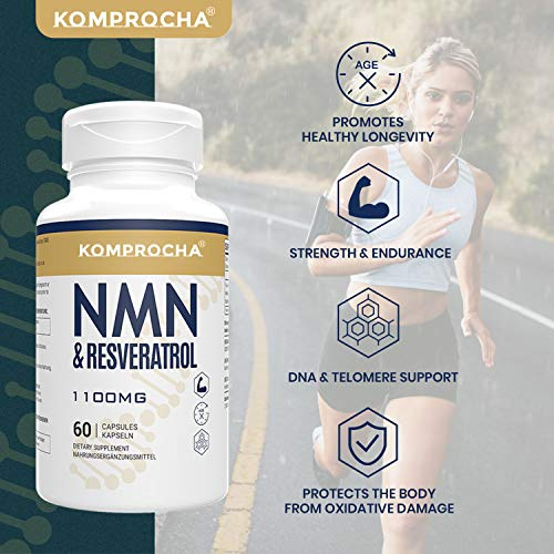 51JONBgrwoL. SL500  - NMN + Trans-Resveratrol 99% Purity+ Black Pepper 1100mg, for Max Absorption, Powerful Antioxidant & Anti-Aging Supplements for Heart, Immune & Skin Health (600 Capsules (Pack of 10))