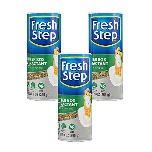 Fresh Step Cat Litter Box Attractant Powder For Training | Natural Training Aid For Cats and Kittens, 9 Ounces - 3 Pack