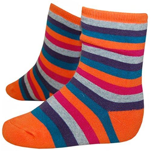 RIESE STRÜMPFE - Socken für Mädchen, orange-petrol, Größe 27-30