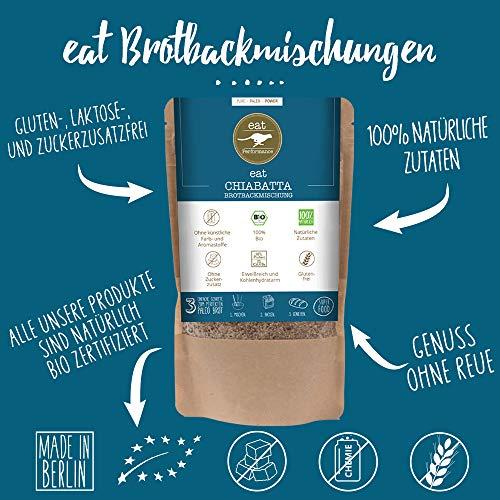 Paleo Brotbackmischung mit Chia (250g) von eat Performance (Bio, Superfood, Brot ohne Zucker und Getreide, glutenfrei, laktosefrei, low carb, eiweißbrot) - 2