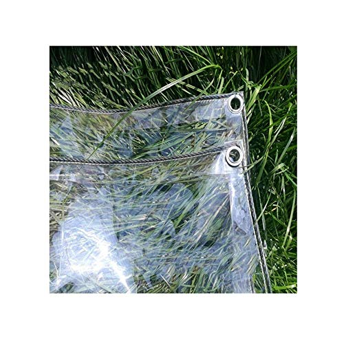 Glass Clear Tarpaulin Rainproof And Dustproof Plant Insulation Cover PVC Soft Film Transparent Metal Ring Eyelet Outdoor Patio Awning, 14 Sizes (Color : Clear, Size : 1.8x2m)