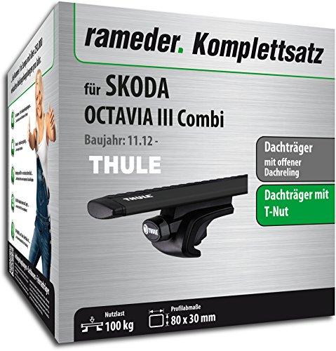 Rameder Komplettsatz, Dachträger WingBar EVO für Skoda Octavia III Combi (118176-11196-187)