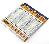 ZYAMY 3pcs MB-102 830 Tie Point Prototype Solderless PCB Breadboard Test Protoboard DIY Bread Board with Self-Adhesive Tape
