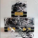CAPRILO. Set de 20 Juguetes Decorativos de Plástico Ciclistas Juguetes y Juegos de Colección. Regalos Originales. Decoración Clásica. Navidad, Reyes y Cumpleaños.