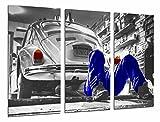 Cuadro Fotográfico Vehiculo vintage, volkswagen escarabajo Tamaño total: 97 x 62 cm XXL