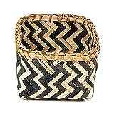 Compactor Cesta, Modelo Zebra, Color Natural y Negro, Fabricada en bambú,...