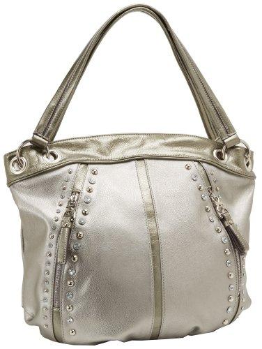 Hot Sale KATHY Van Zeeland Pop Rock Star Shoulder Bag,Pewter,One Size