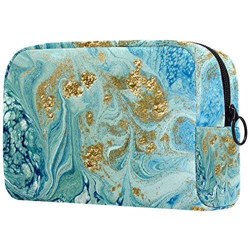 Travel Hanging Toiletry Wash Bag 18.5x7.5x13cm Liquid Marble Pattern PVC Makeup Brushes Bags Make up Bag, Travel Cosmetic Bags Brush Pouch