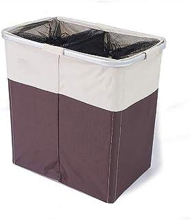 SMEJS Double Grille Tissu Panier de rangement, Panier de rangement multi-fonction Panier for Chambre des ménages