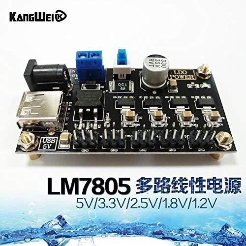 Lineares Mehrkanal-Netzteil LM7805 mit 5 V / 3,3 V / 2,5 V / 1,8 V / 1,2 V Ausgangsspannung