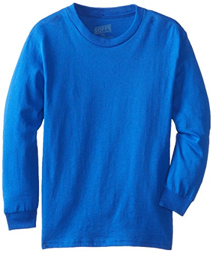 MJ Soffe Big Boys' Youth Pro Weight Long-Sleeve T-Shirt, Royal, Medium