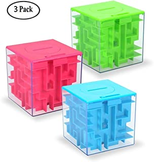 Money Maze Puzzle Box, Twister.CK Money Holder Puzzle for Kids and Adults Birthday Christmas Gifts (3 Pack)