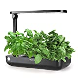 Hydroponics Growing System,Support Indoor Grow,herb Garden kit Indoor, Grow Smart for Plant, Built Your Indoor Garden (Small-Black)