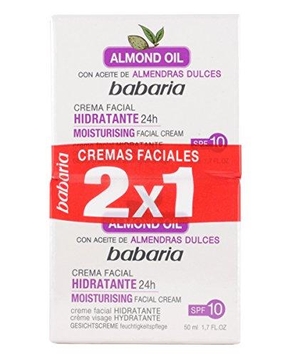 Babaria Aceite Almendras Dulces Crema Facial Hidratante - 2 Unidades