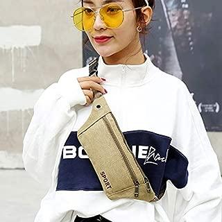 Fashion Single-Shoulder Bags Cavans Single Shoulder Bag Waist Bag Chest Bag Messenger Bag (Black) (Color : Beige)