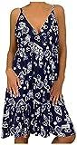 Women Dresses Women's Sleeveless Plus Size V Neck Short Mini Dress Casual Summer Holiday Beach Party Dresses