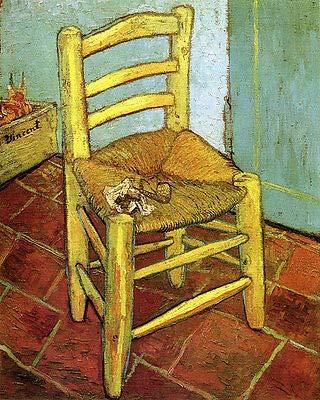 Kunstdruck Der Stuhl Van Goghs in Arles mit Pfeife Tabak Vincent Van Gogh A3 023