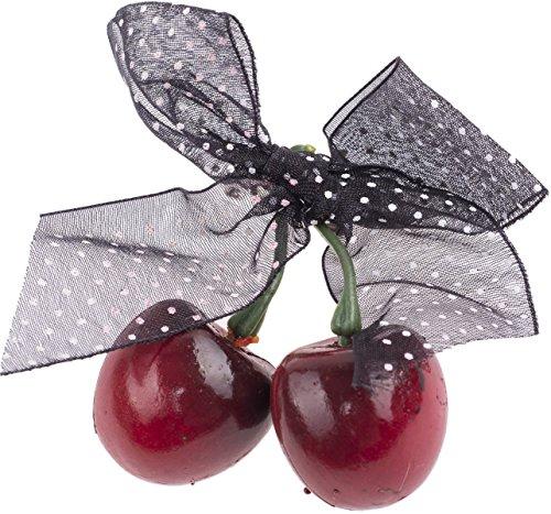 Unbekannt Cute Cherry Kirschen Polka DOT Bow BROSCHE Rockabilly