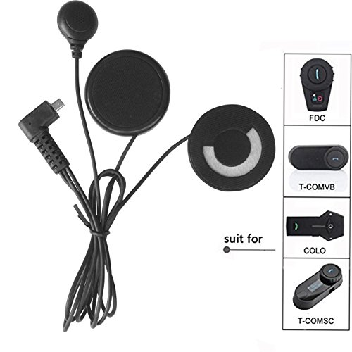 FreedConn Motorrad Intercom Headsets Motorrad Helm Bluetooth BT Gegensprechanlage Zubehör,Mikrofon Lautsprecher Fest weiches Kabel Headset für TCOM SC & TCOM VB