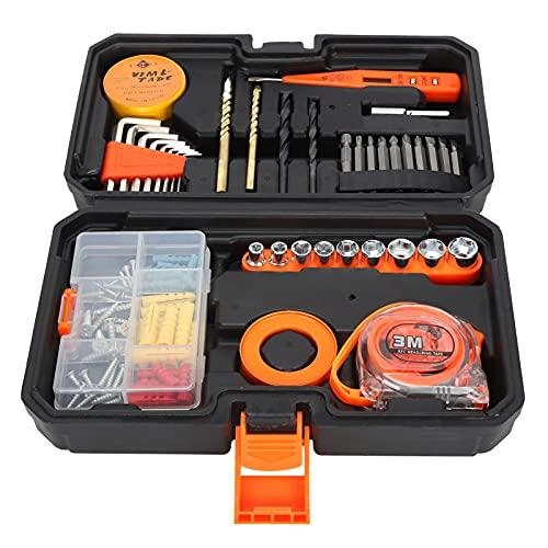 Juego de herramientas de reparación para el hogar, juego de herramientas para el hogar, duradero, multifunción, portátil, 99 piezas/juego, juego de herramientas de reparación con estuche