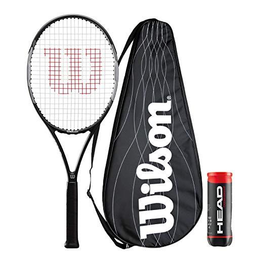 Wilson Pro Staff Precision 103 - Raqueta de tenis + funda de rendimiento + 3 pelotas de tenis de campeonato