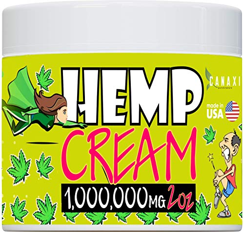 Natural Hemp Extract Pain Relief Cream 1m - 2 oz- Hemp Arnica Inflammation Arthritis, Knee, Skin Joint & Back Pain Muscle Pain Relief - Made in USA - EMU Oil