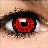 Farbige Maxi Sclera Kontaktlinsen Lenses Cataclysm inkl. Behälter - Top Linsenfinder Markenqualität, 1Paar (2 Stück)
