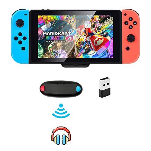 Adaptador Bluetooth para Nintendo Switch / Switch Lite PS4 PS5 PC, BT 5.0 Transmisor de Audio inalámbrico Bluetooth con Aptx de Baja latencia USB C