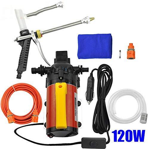 YAMEIJIA 120W elektrische Autowaschanlage mit Shampoo-Schaum-Gewehr-Hochdruckautoschaum-Waschmaschine 12V mit Zigarettenfeuerzeug-Wasser-Pumpen-Installationssatz