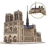 Cubicfun 3D Puzzles Moveable Architecture Model Large Notre Dame de Paris French, Challenge for Adults Children, Cathedral Architecture Church Building Model Kits, 293 Pieces