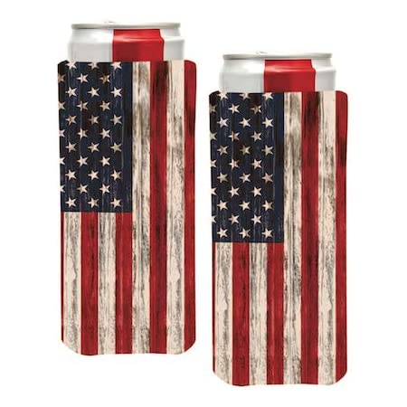 2-Sided Design Can Cooler Wincraft American Flag USA 12 oz