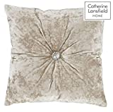 Catherine Lansfield Crushed Kissen, Samt, Polyester, Natur, 50x 13x 50cm