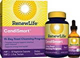 Renew Life Adult Cleanse - CandiSmart - 15-Day Yeast Cleansing Program - 2-Part Kit - Gluten & Dairy Free - 60 Vegetarian Capsules + 1 Fl. Oz. Tincture (Package May Vary)
