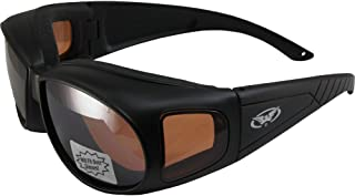 Global Vision Outfitter Motorcycle Riding Safety Sunglasses Matte Black Frames Driving Mirror Lenses ANSI Z87.1+