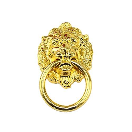 Godagoda Retro Griff Kommode Schublade Schrank Tür Zug Löwe Metall Zug Ring Antik Bronze silber golden Farbe 40mmx67mm 10-tlg