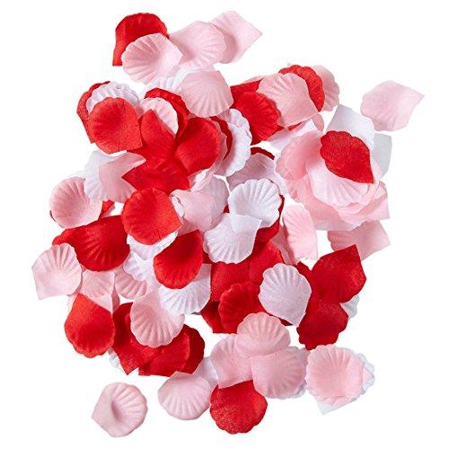 Amakando Feuilles de Rose pétales de Fleurs Saint Valentin 150 pièces décoration Romantique fête Mariage Enfants d'honneur Roses à Jeter