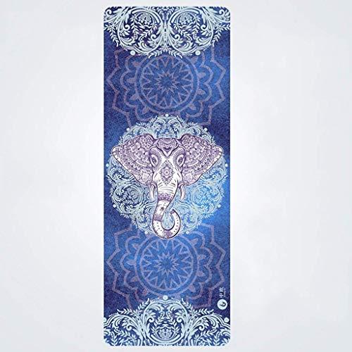 KAIBINY Alfombra Antideslizante Yoga Mat, Mat Caucho Natural Aptitud Especial Widen Antideslizante Mat Plegable